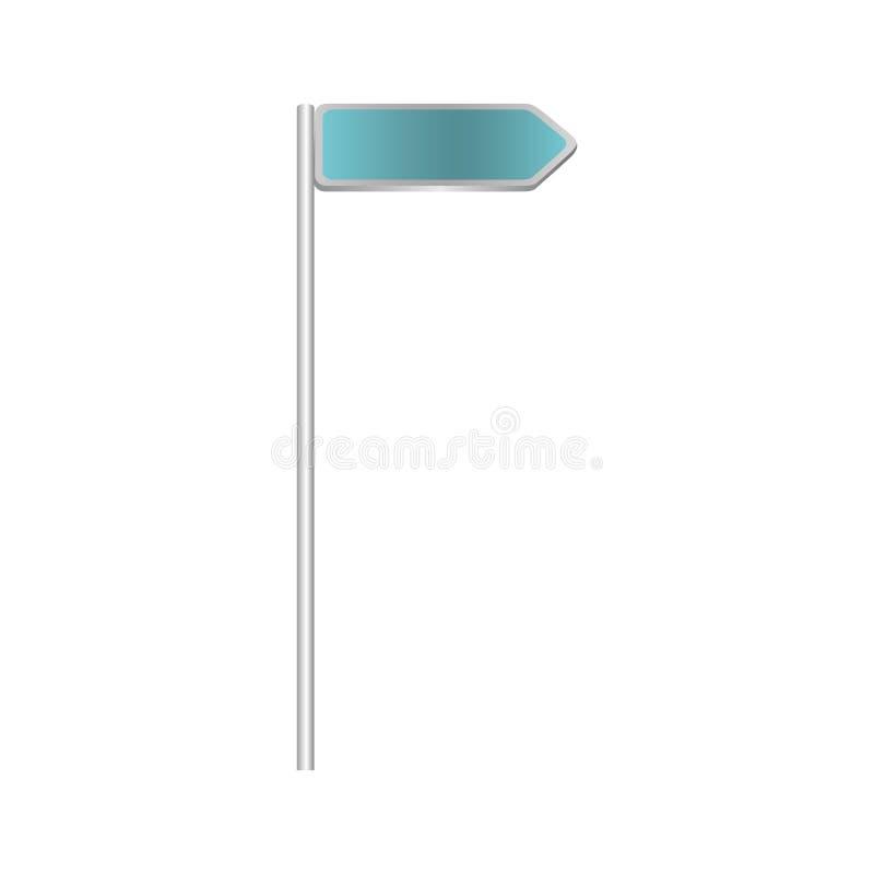 segnali stradali blu metallici del bordo di direzione illustrazione di stock