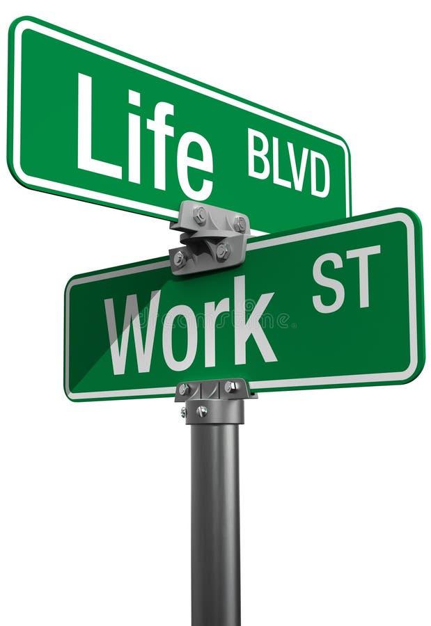 Segnali stradali di decisione di vita o del lavoro illustrazione di stock
