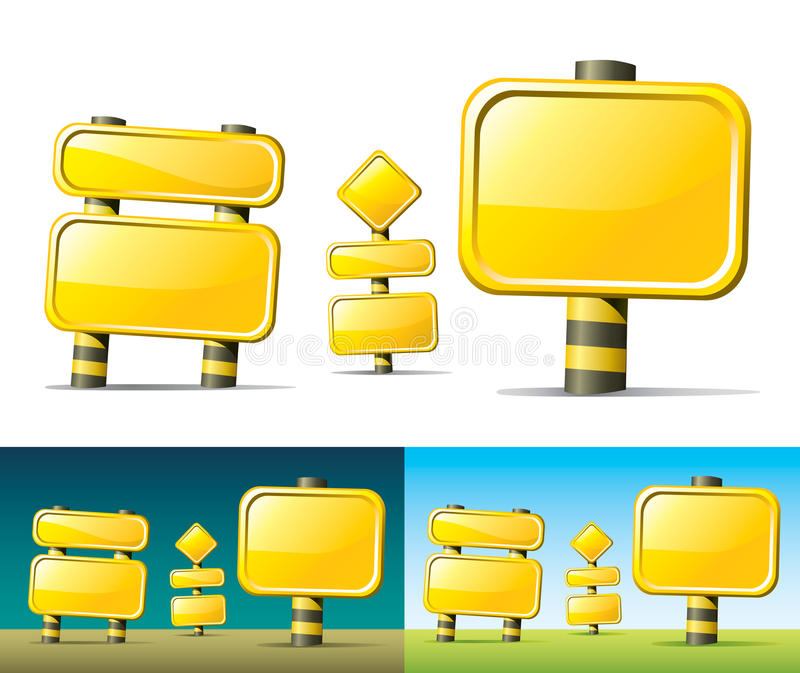 Segnali stradali gialli royalty illustrazione gratis
