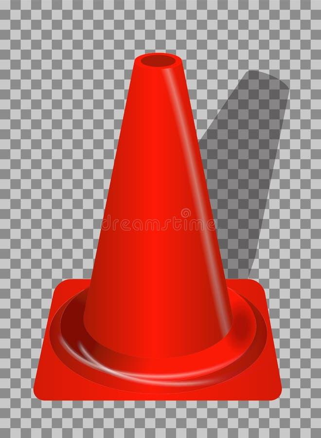 Segnali stradali Guardavie arancio del distintivo su fondo trasparente V royalty illustrazione gratis