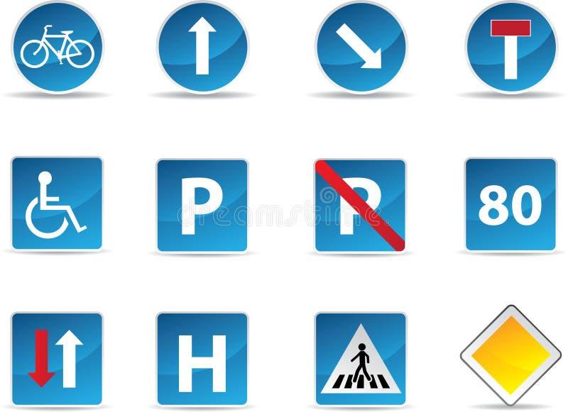Segnali stradali informativi illustrazione di stock