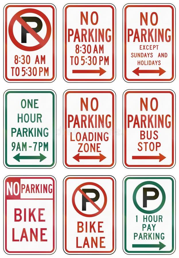Segnali stradali regolatori degli Stati Uniti MUTCD illustrazione di stock