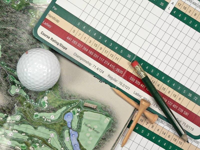 Segnapunti di golf immagini stock