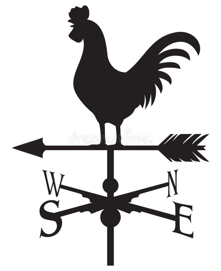 Segnavento del gallo royalty illustrazione gratis