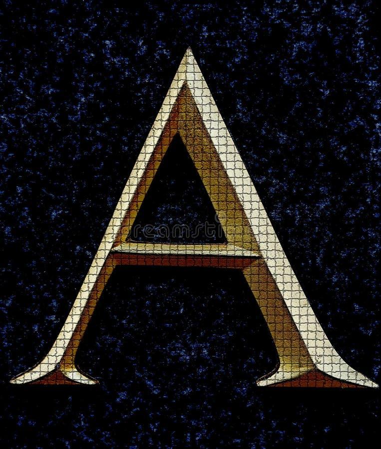 Segni A con lettere fotografia stock libera da diritti