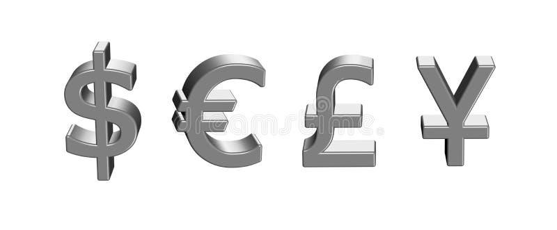 Segni dei soldi illustrazione di stock