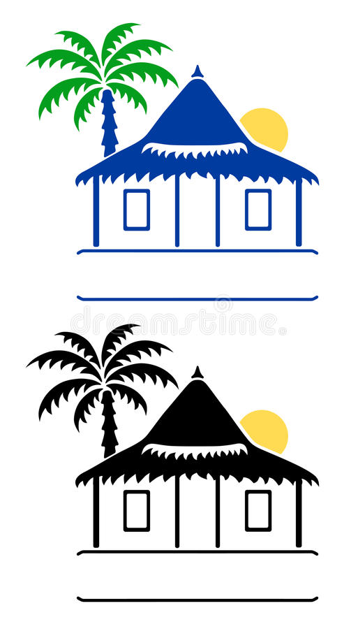 Segni del bungalow royalty illustrazione gratis