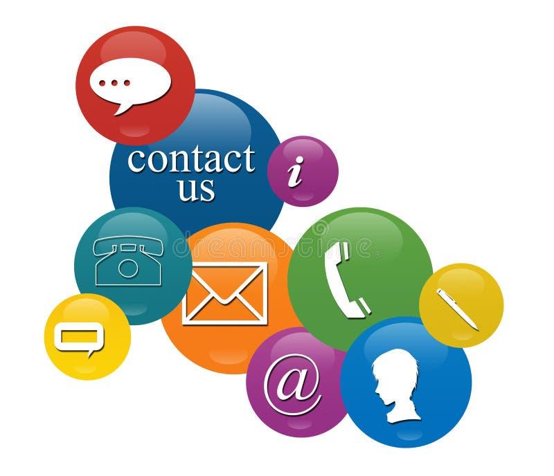 Segni del contatto royalty illustrazione gratis