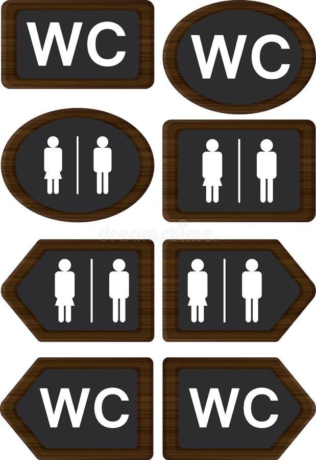 Segni del WC illustrazione di stock