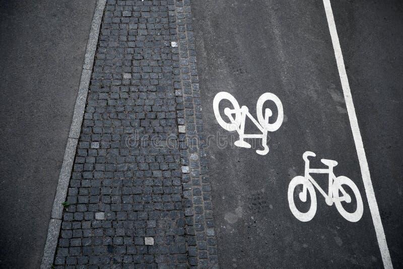 Segni della bicicletta fotografia stock