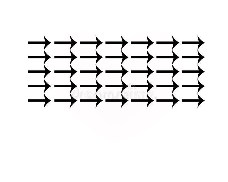 Segni della freccia freccia Una catena delle frecce, file fotografia stock libera da diritti
