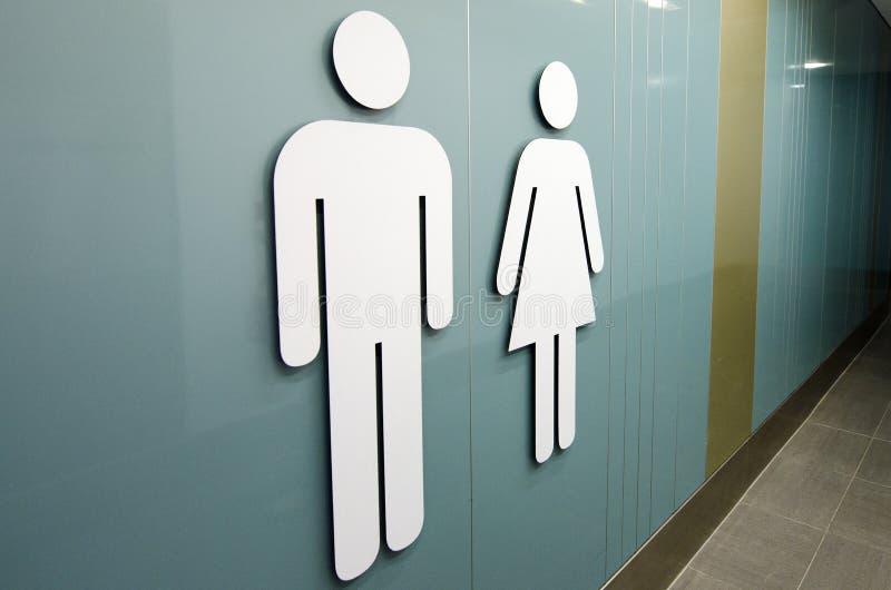 Segni della toilette immagine stock