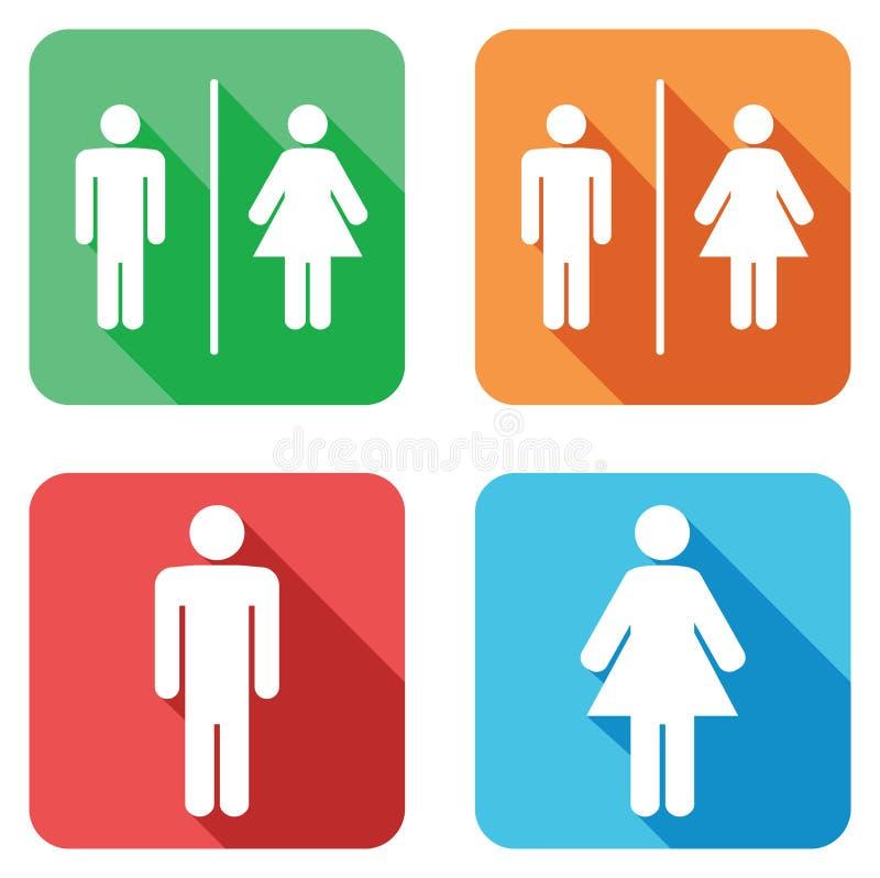 Segni della toilette royalty illustrazione gratis