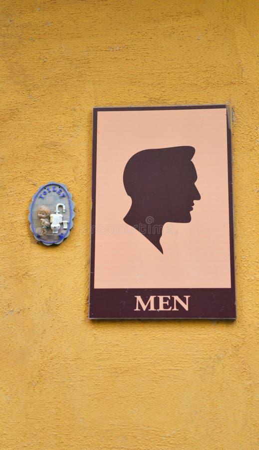Segni della toilette dell'uomo fotografie stock