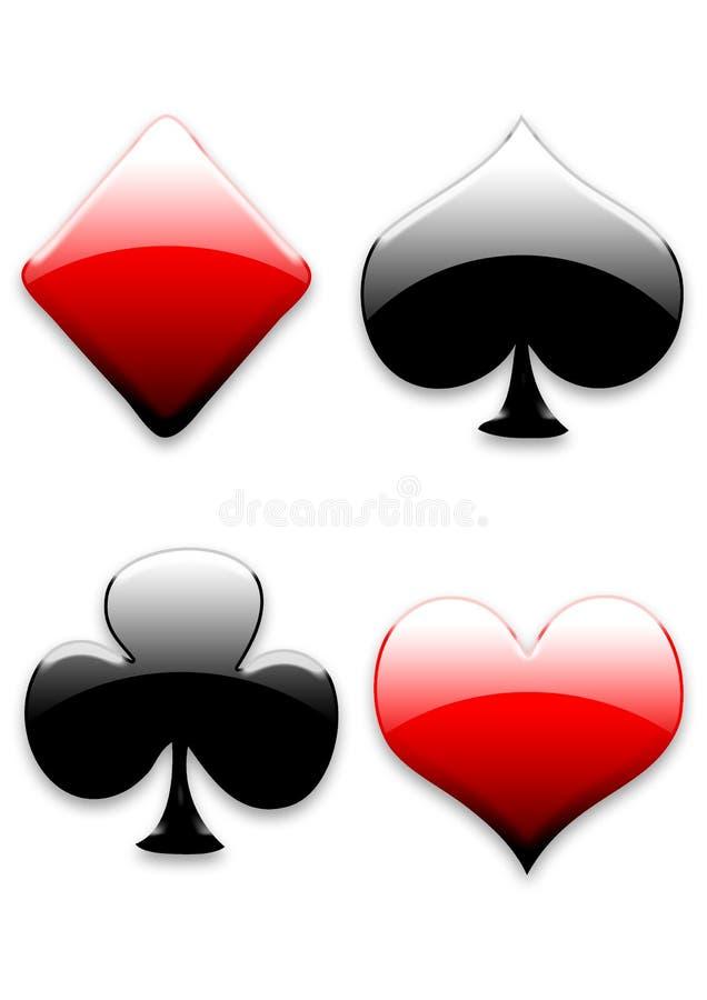 Segni delle schede di gioco illustrazione vettoriale