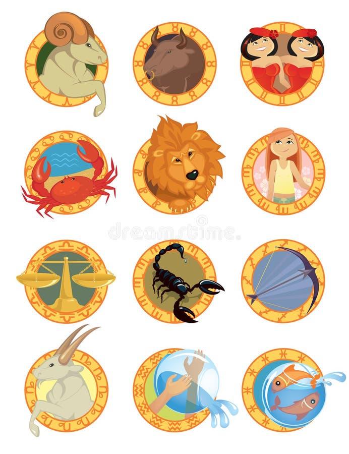 Segni dello zodiaco illustrazione vettoriale