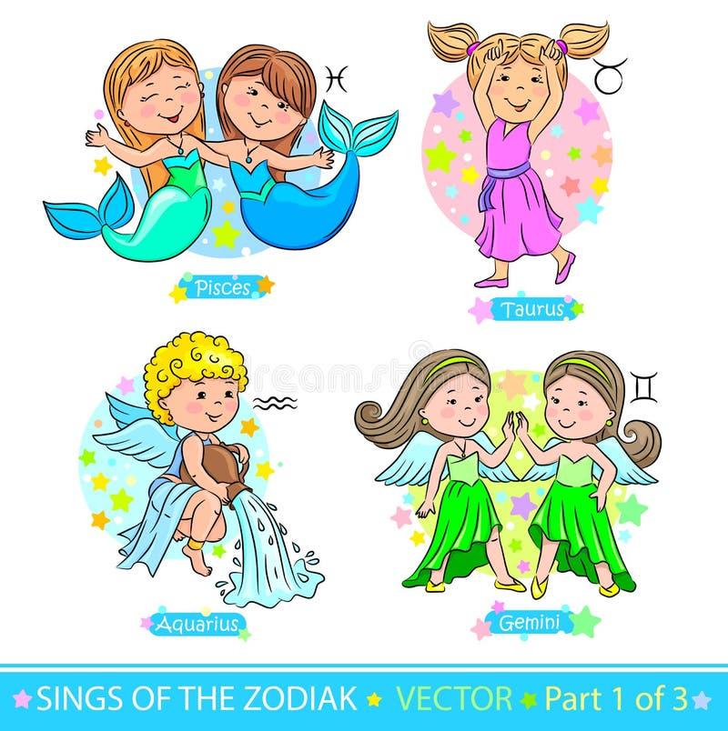 Segni 1 dello zodiaco illustrazione vettoriale