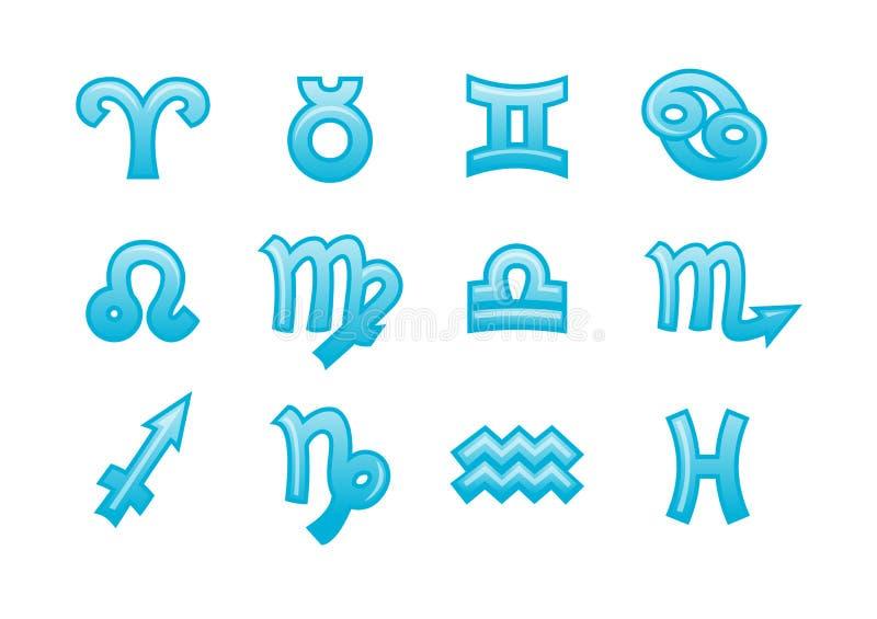 Segni dello zodiaco royalty illustrazione gratis