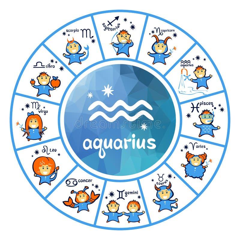 Segni dello zodiaco - Aquarius royalty illustrazione gratis