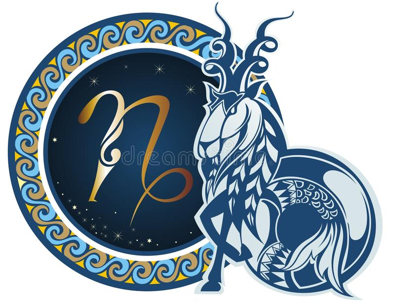 Segni dello zodiaco - Capricorn royalty illustrazione gratis