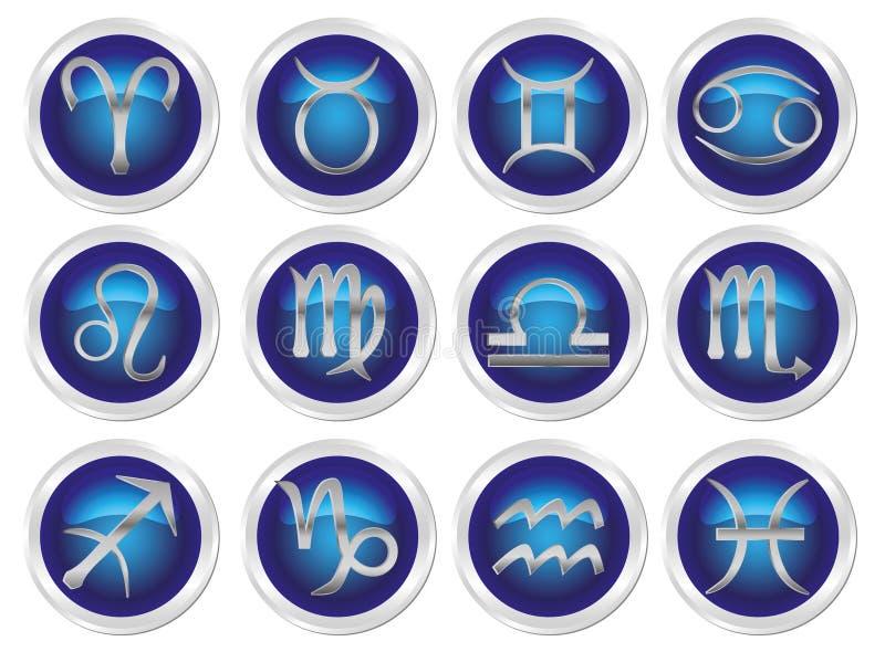 Segni dello zodiaco di Horoscope royalty illustrazione gratis