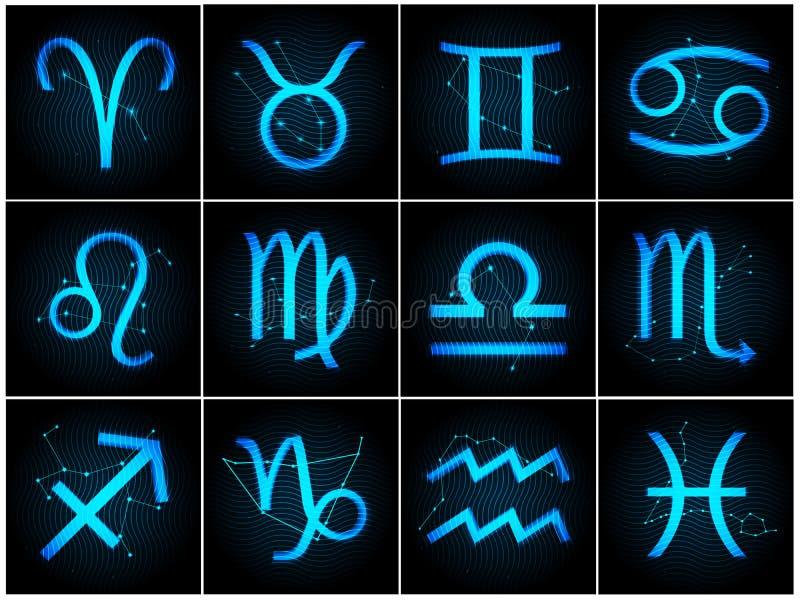 Segni dello zodiaco di vettore illustrazione vettoriale