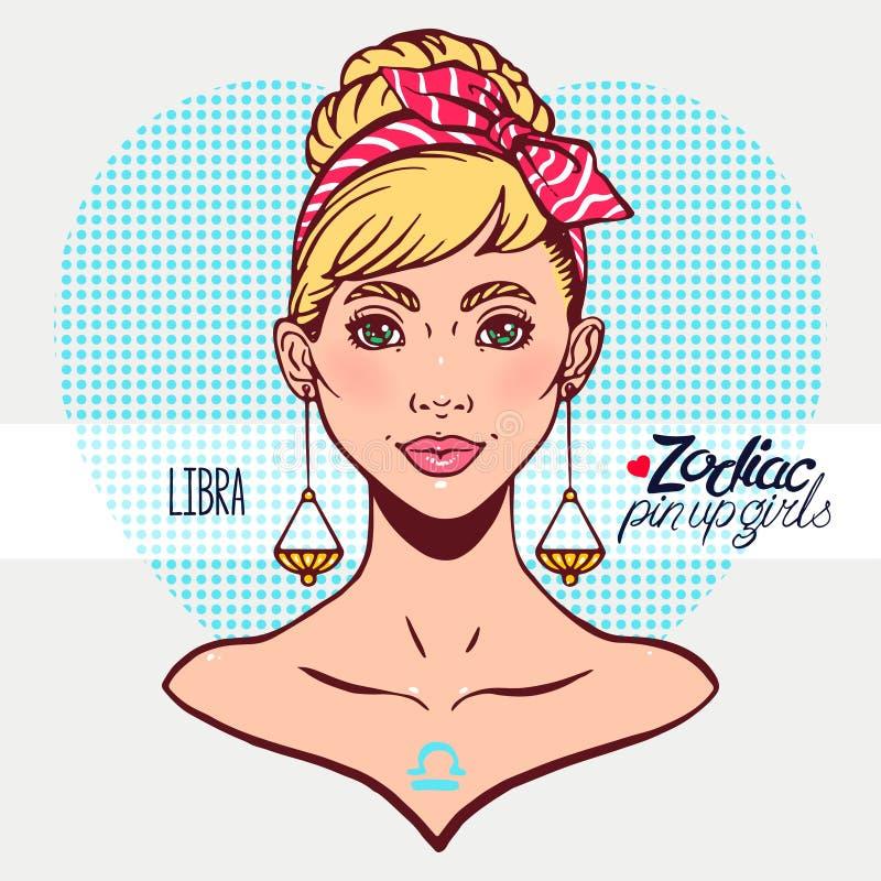 Segni dello zodiaco - Libra royalty illustrazione gratis