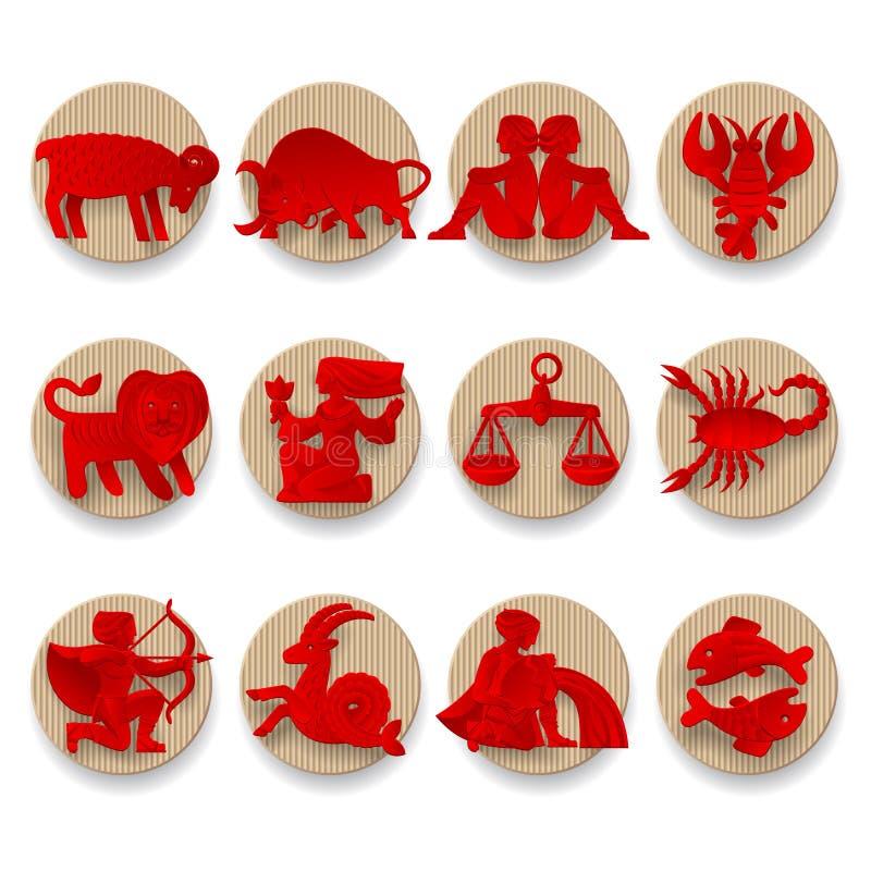 Segni dello zodiaco messi royalty illustrazione gratis