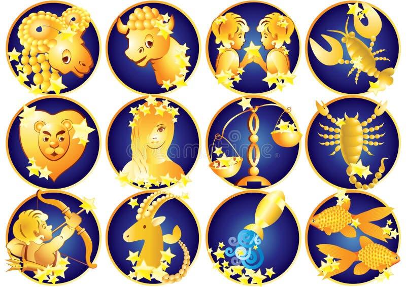 Segni dello zodiaco, oroscopo fotografia stock