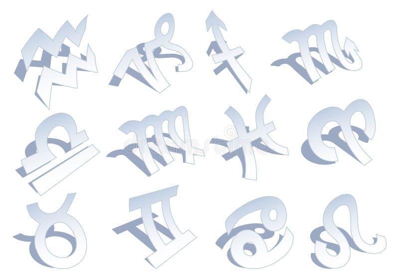 Segni dello zodiaco, vettore illustrazione di stock