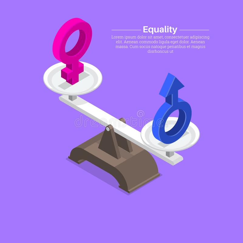 Segni di genere sulle scale illustrazione di stock