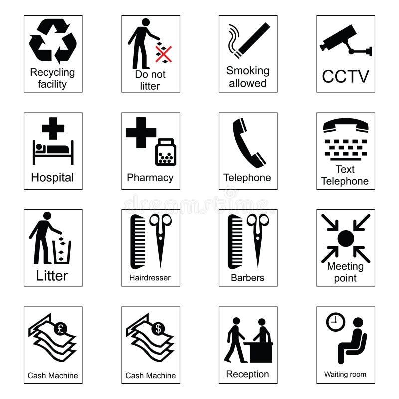 Segni di informazioni pubbliche illustrazione di stock