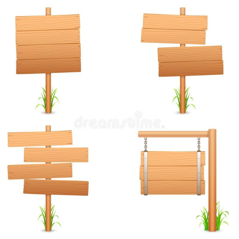 Segni di legno. illustrazione di stock