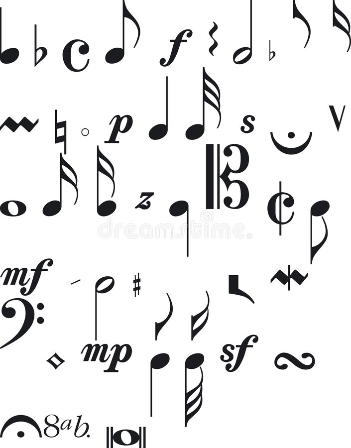 Segni di musica illustrazione di stock