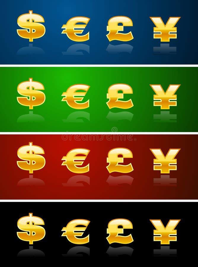 Segni di valuta royalty illustrazione gratis