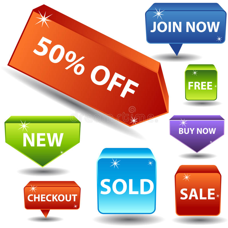 Segni di vendita illustrazione vettoriale