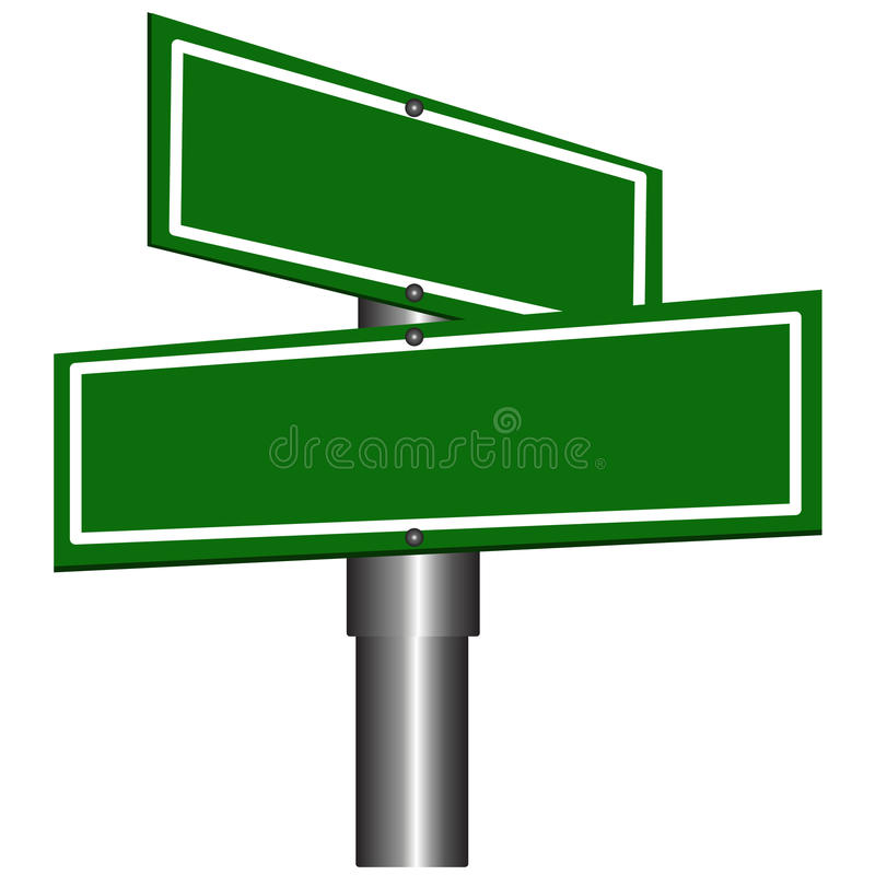 Segni di via in bianco illustrazione di stock