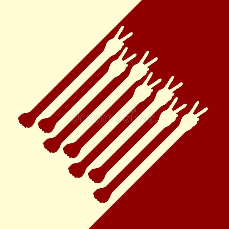 Segni e pugni di pace royalty illustrazione gratis