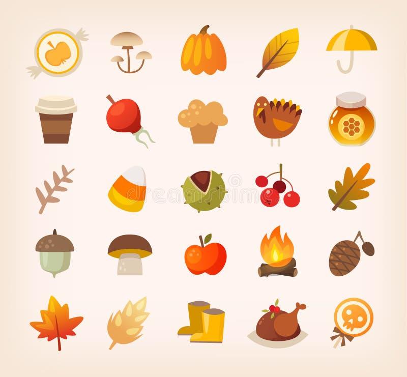 Segni e sybols di autunno illustrazione di stock