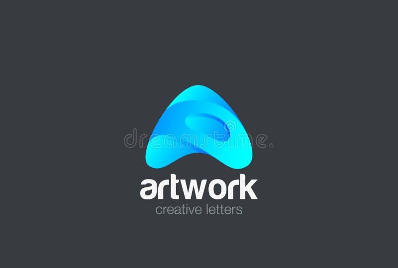 Segni il vettore con lettere di progettazione di logo di A Fonte di tecnologia di mezzi d'informazione royalty illustrazione gratis