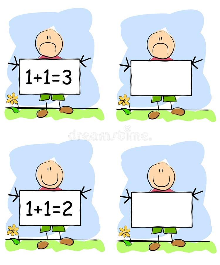 Segni infantili della holding del bambino dell'illustrazione illustrazione vettoriale
