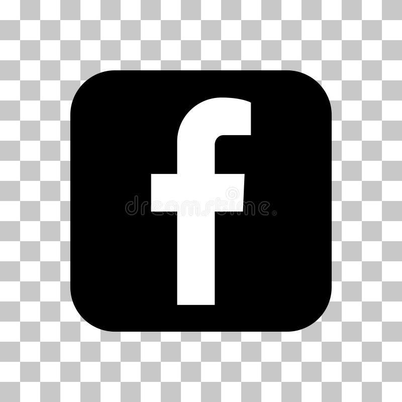 Segni la F con lettere, icona sociale di vettore di media nessuna 2 illustrazione di stock
