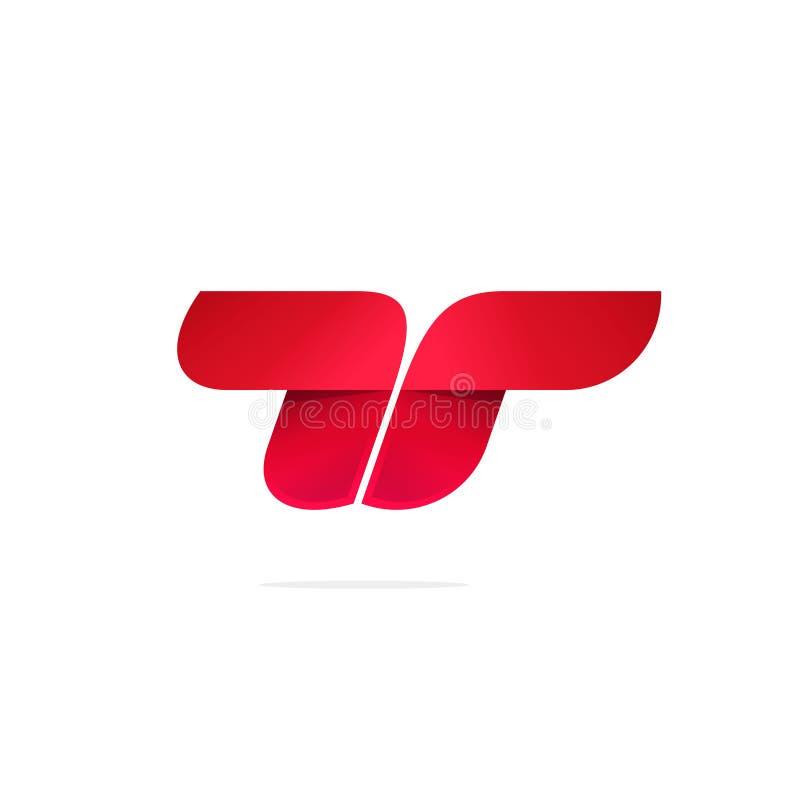 Segni la t o il doppio concetto con lettere di vettore di logo della r, la progettazione moderna del logotype di pendenza di colo royalty illustrazione gratis