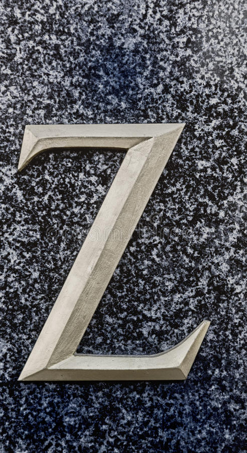 Segni la Z con lettere fotografia stock libera da diritti