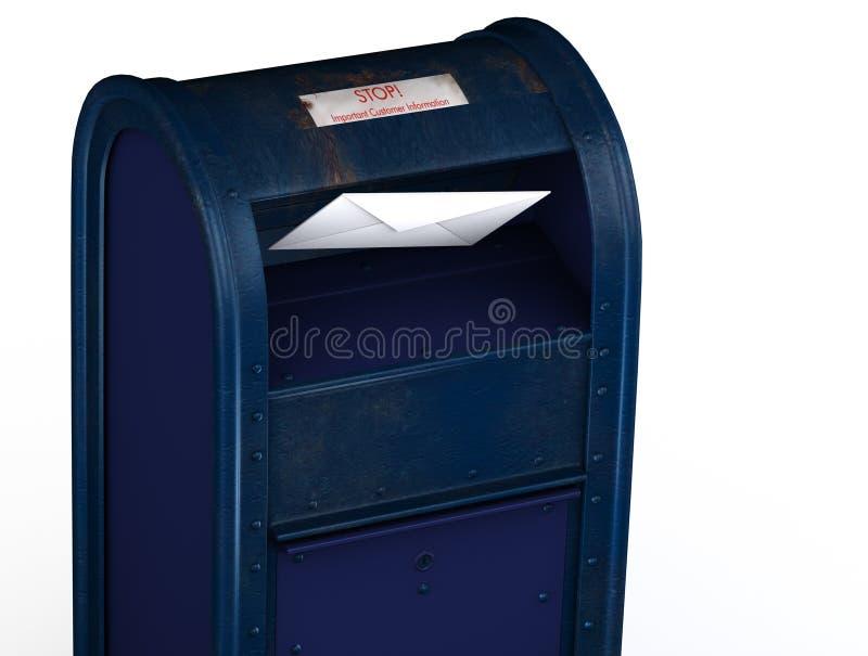 Segni lo scivolamento con lettere nella cassetta postale fotografie stock
