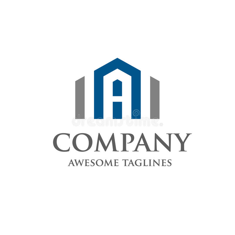 Segni Real Estate con lettere Logo Design royalty illustrazione gratis