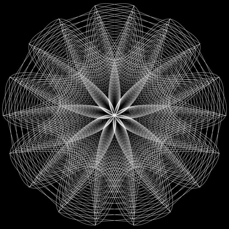 Segni sacri della geometria Insieme dei simboli e degli elementi Alchemia, religione, filosofia illustrazione vettoriale