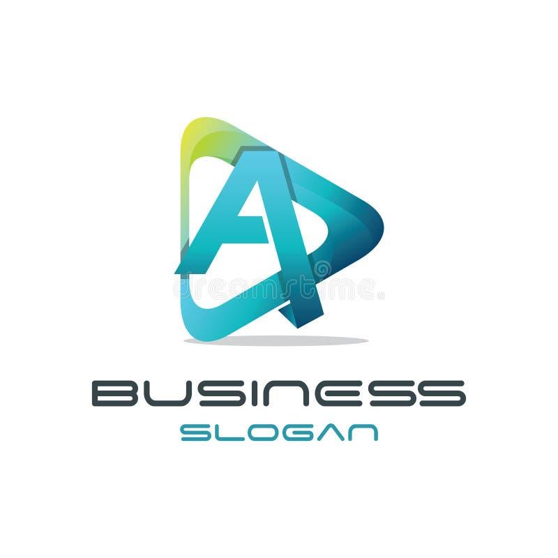 Segni un logo con lettere di media illustrazione di stock
