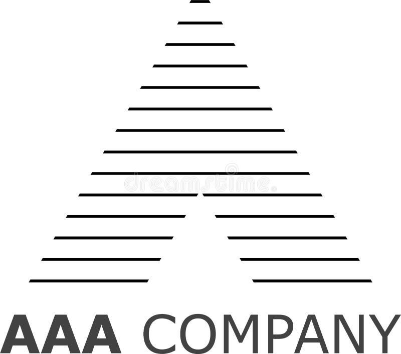 Segni un logo con lettere a strisce fotografia stock libera da diritti