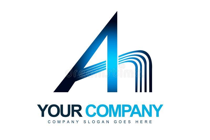 Segni un marchio con lettere illustrazione vettoriale